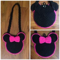 crochet minnie mouse purse by CrocheMonkeyBusiness on Etsy, $20.00