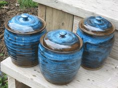 Canister Set Handmade Pottery Canisters (0513001)