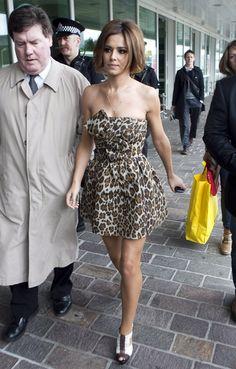 Leopard Dress Cheryl Cole Stephane Rolland Jonathan Saunders Animal Print