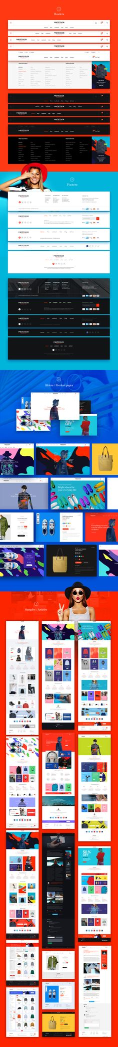 i'm proud to present you stylish and bright UI kit, which consists of more than…