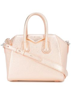 55734d4f53 This rose gold-toned Givenchy mini Antigona leather bag is a refreshing  update on an iconic style.