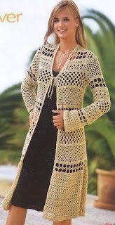 Long Camel Jacket free crochet pattern