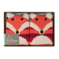 Knitted+Fox+Hand+Warmers