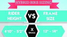 How to Pick the Right Size Hybrid Bike It is vital to have a bike that fits you properly. This post shows how to pick the right size hybrid bike, and includes an infographic.