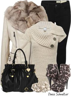 """Animal Print Boots"" by denise-schmeltzer on Polyvore"
