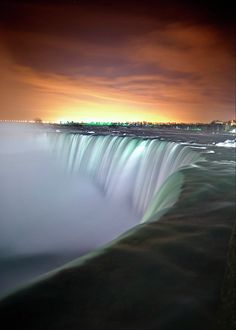 Niagara Falls By Night, Canada.I want to go see this place one day.Please check out my website thanks. www.photopix.co.nz