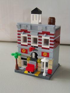 Micro Modular Street: A LEGO® creation by Li Li : MOCpages.com