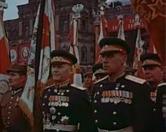 24.06.1945 Moscow Victory Parade, celebrating defeat of Nazi Germany. Polish Army (left side) general Wladyslaw Korczyc.