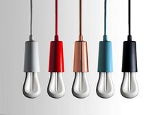 Plumen 002, Designer Low Energy Bulb, Color Capped Bulbs