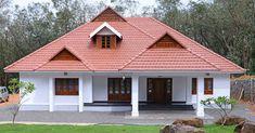 550 SqFt Low Cost Traditional 2 Bedroom Kerala Home Free Plan - Free Kerala Home Plans Small Modern House Plans, Modern Small House Design, Kerala Traditional House, Traditional House Plans, Village House Design, Kerala House Design, House Outside Design, House Front Design, Single Floor House Design
