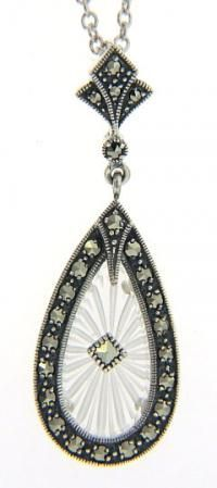 Marcasite pendant- matches the earrings.