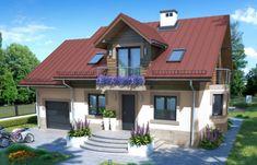 Proiecte de case cu mansarda si suprafata utila de 120 mp - 3 modele practice si functionale Modern Bungalow House, Inside Outside, House Elevation, Design Case, Pool Houses, Home Fashion, House Plans, Home And Garden, 1