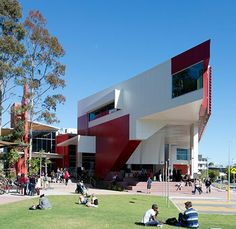 Library and Learning Commons, Griffith University: 'The Griffith University Library is at the heart of the University, connecting students, staff and researchers across all disciplines. Book dominated spaces have given way to high-tech, dynamic environments that inspire creativity, promote collaboration and encourage innovation' Photograph: Tara Anderson/GuardianWitness