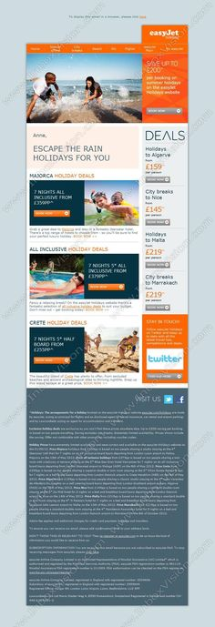Easyjet Newsletter  Newsletters    Email Design And