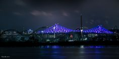 Pont Jacques-Cartier en lumières, Montréal, QC Canada