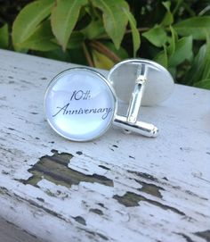 Anniversary gift for him 10th Anniversary by OverTheMoonBridal