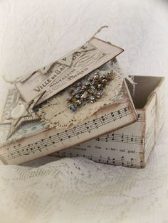 Handmade Vintage Paris Shabby White Box