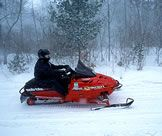 Snowmobiling in Northern Wisconsin