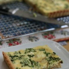 Chive and Goat Cheese Quiche -- And My Second Podcast!