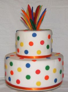 Primary Colors Birthday Cake By imsamiam on CakeCentral.com