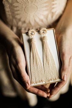 Ivory white beaded tassel earrings Wedding earrings Long bridal earrings Bridesmaid earrings BOHO wedding earrings Swarovski earrings - The World of Makeup Beaded Tassel Earrings, Bead Earrings, Beaded Jewelry, Handmade Jewelry, Statement Earrings, Fringe Earrings, Diy Schmuck, Schmuck Design, Bridesmaid Earrings