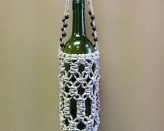 how to macrame a water bottle holder - Google Search