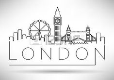 London Logo design ideen handwerk London City Skyline with Typographic Design London City, London Logo, Camera Logo, Skyline Von London, London Skyline Tattoo, London Tattoo, Design Set, Logo Design, London Drawing