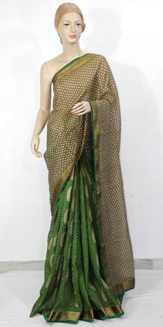 This trendy designer saree is unique & crafted to give gorgeous look to your personality. This Saree brings that extra charm and appeal to your appearance, just right for the moment.  Buy Online : http://www.maanacreation.com/product-view/?id=1683  This saree is specially made by synthetic fabric but it gives you comfort of silk saree. This saree could be worn in all season.