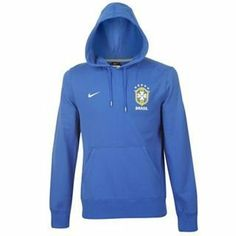 Brazil Blue Hoodie 2012/13 by Nike. $63.02. The Brazil Blue Hoodie is a brand new design from Nike and will be worn by Neymar, Ganso and Robinho as part of the 2012/13 Training and Presentation wear range. It is a stylish new design and is made from 100% Cotton. The Hoody is Blue in colour with a large front pocket. There is a large Brazil crest on the front alongside a printed Nike logo. This Brazil Blue Hoodie is an official product manufactured by Nike under licence for the...