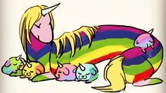 Lady Rainicorn and puppies! Adorable!