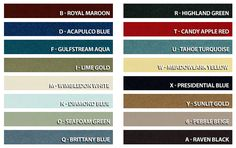 Part, casting number, toploader, and Shelby VIN decoding, interior & exterior color swatches for 1965 to 1973 Ford Mustangs and much more! Mustang Fastback 1968, Ford Mustang 1968, Blue Candy Apples, Candy Apple Red, Exterior Colors, Interior And Exterior, Decoding, Car Painting, Color Swatches