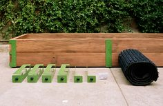 SCOUT REGALIA   SR Patio Garden Kit Powder Coated Steel Brackets for Corners and Drainage textile Mat just purchase 2x6 wood