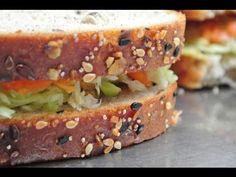 Indian diet food / easy sandwich / whole grain bread - YouTube