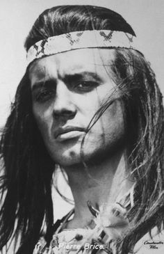 Pierre Brice as Winnetou in the eponymous 1960s movies.