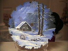 hand painted saw blades   Hand painted saw blade. I have painted many of Bob Ross on saws and ...