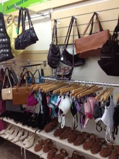 bags and bras in Oxfam's Huddersfield store