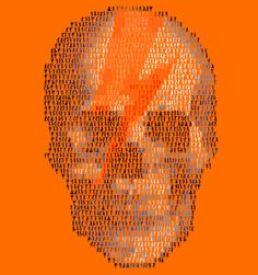 Dancing Skull in Orange by Mike Edwards!  Combining two loves...