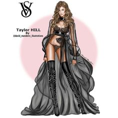 @taylor_hill at #victoriassecretfashionshow 2016 in #paris #digitaldrawing by @david_mandeiro_illustrations @victoriassecret After 18 hours of work #davidmandeiroillustrations #teamdavidmandeiroillustrations #taylorhill #victoriasecrets #artsblogger #fashion4arts #gjb215 #wacombamboo #wacomart #wacombamboo #wacom #artwork #arts_gallery #art #fashionillustrations