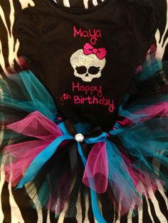 Size girls 416 Monster High look Birthday outfit by audrinascloset, $40.00