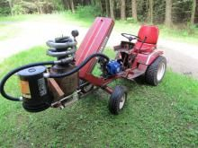 charcoal fueled garden tractor gasifier gas-producer