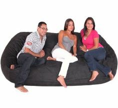 Amazon.com: 8-feet Xx-large Black Cozy Sac Foof Bean Bag Chair: Furniture & Decor