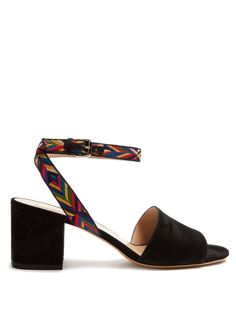 Native Couture 1975-embroidered suede sandals  | Valentino | MATCHESFASHION.COM US