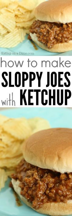 how to make sloppy joes with ketchup - easy and delicious