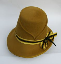 Mustard Yellow,Women Hat by IVANA HOWCROFT #millinery #hats #HatAcademy