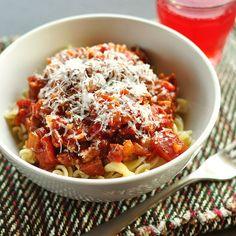 Quick Tomato Sauce with Pasta via The Kitchn