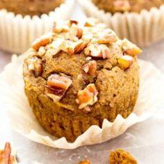 Gluten Free Maple Pecan Pumpkin Muffins (GF, Vegan, Dairy-Free, Refined Sugar-Free)