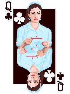 Twin Peaks Queens Playing Cards Digital Print by 60ftVenus on Etsy