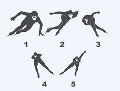 Speed Skating Silhouettes - Car/Truck/Phone/Home/Computer Decal Inline Speed Skates, Roller Skate Shoes, Human Poses, Inline Skating, Home Computer, Cycling Art, Back Off, Transfer Tape, Pose Reference