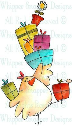 Gifts Galore - Chickens - Animals - Rubber Stamps - Shop