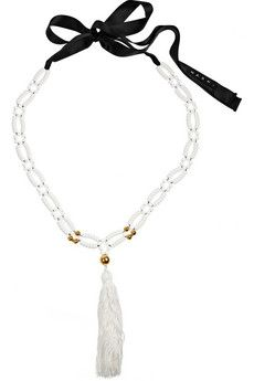 Marni bead and tassel necklace